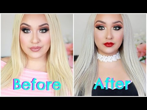 How To Transform Your Hair Extension | From Blonde To Silver/White