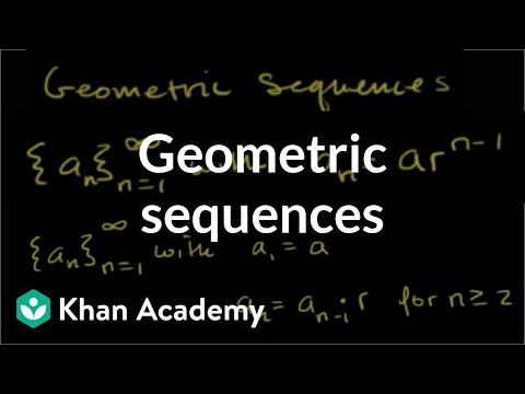 Geometric sequences | Sequences, series and induction | Precalculus | Khan Academy