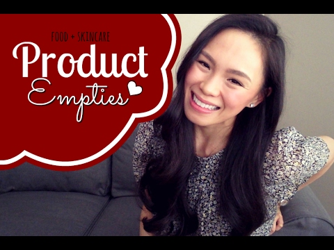 Food + Skincare PRODUCT EMPTIES!