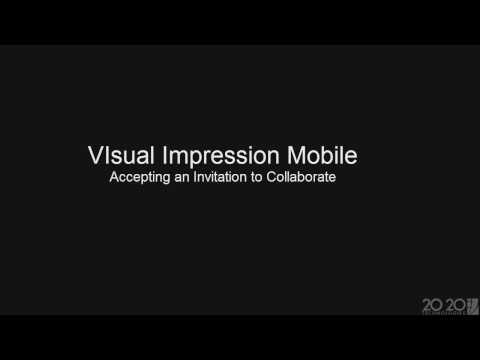 2020 Visual Impression Mobile Tip: How to accept an invitation to collaborate