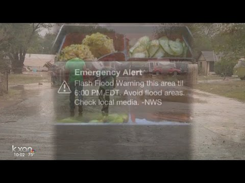 Emergency weather alerts on phones
