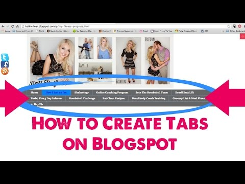 How to Create Tabs or Pages on Blogspot.com
