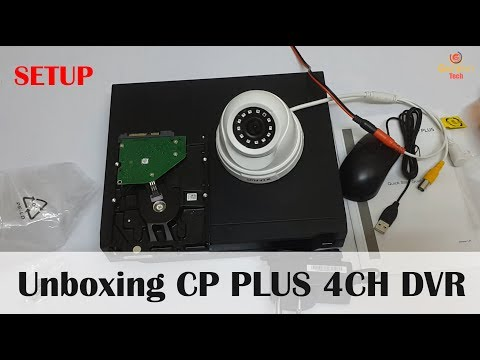 Unboxing CP Plus Cosmic 4Ch DVR | CCTV Setup | What is DVR? | Setting | Price to Setup CCTV Camera