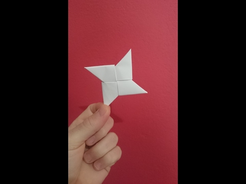 How To Make A Paper Ninja Star - Origami