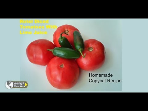 Rotel Diced Tomatoes With Lime- Homemade Copycat Recipe