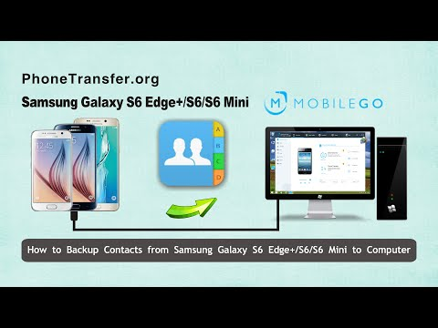 How to Backup Contacts from Samsung Galaxy S6 Edge+/S6/S6 Mini to Computer