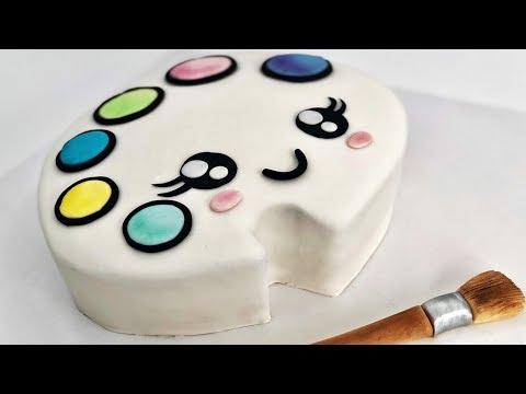 CUTEST Paint Palette CAKE!