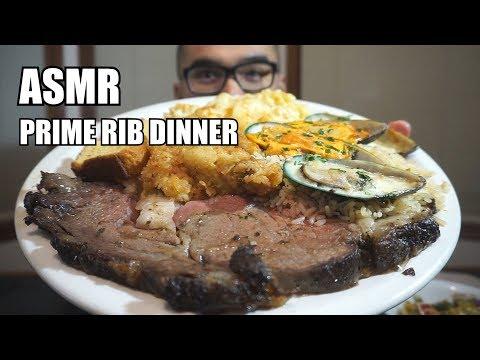 [Asmr] PRIME RIB DINNER  *Relaxing Eating Sounds *NO TALKING