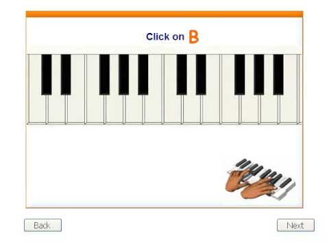 Music Theory - the treble staff and keyboard