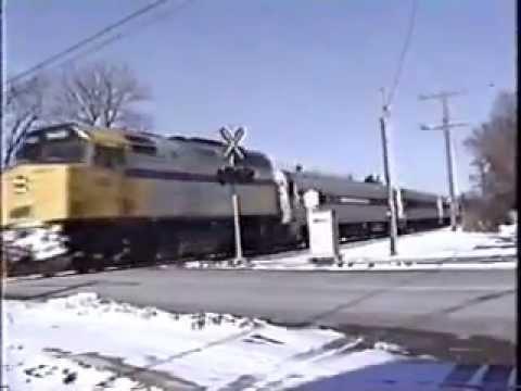 Amtrak Arriving In London Ontario - 1994