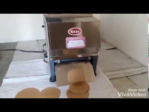 Chapati making machine/ Roti making machine/ semi automatic chapati machine - maker nirav