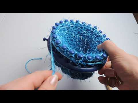 Loom Knit Scrubby with Drawstring Cast On