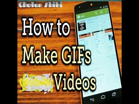 How to make Gif video with Android ||Gif video make with phone
