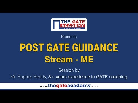 Mechanical Engineering   Post GATE Guidance for M.Tech in IIT/NIT & PSU jobs