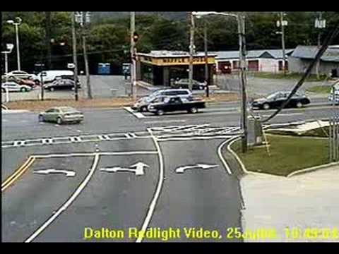 getting busted running a red light in georgia