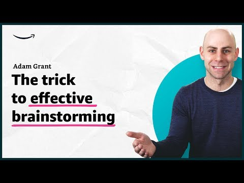 Adam Grant - The trick to successful brainstorming - Insights for Entrepreneurs - Amazon