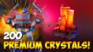 Superion Combiner IN BATTLE Opening 200 Premium Crystals 7+ 4 STAR BOTS TFEW