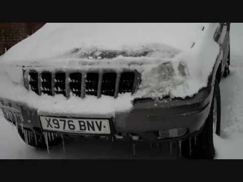 UK Cold start minus 2 degrees Jeep Grand Cherokee Limited 3.1 Turbo Diesel. Stranded in snow