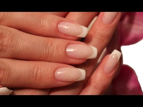 Flawless Gel Nails - French White Tip + Stardust Pink Tutorial by Goda