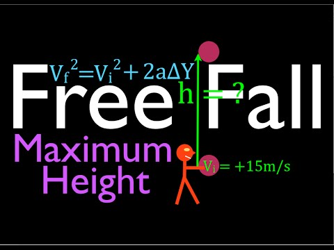 Physics, Kinematics, Free Fall (9 of 12) Height Reached from Known Initial Velocity