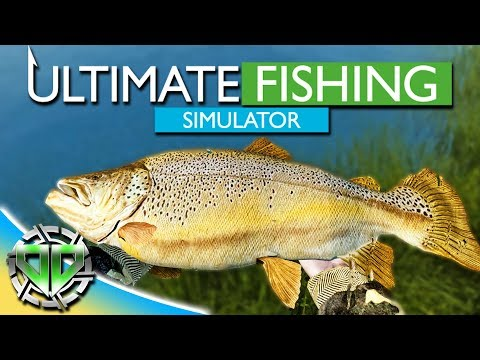 Ultimate Fishing Simulator Gameplay : Catching a Massive Trout : PC Lets Play Alpha