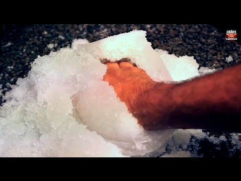 How to get Instant-Snow Powder - Science Experiments