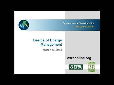 ESRC Sustainable Business Training Series - Basics of Energy Management