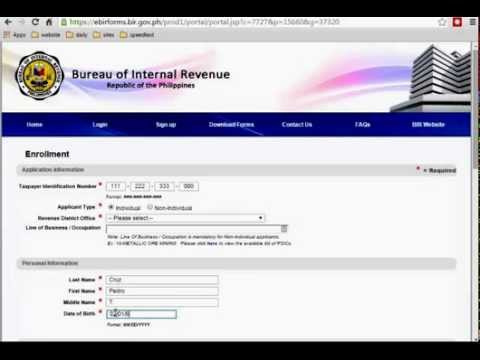 How to Sign up Online eBIRFORMS