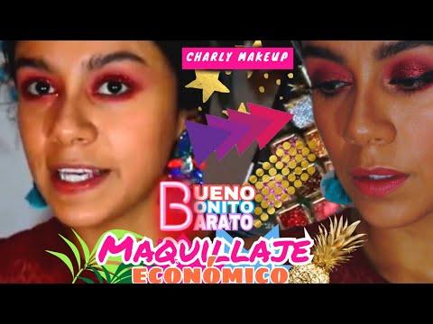 Tutorial con maquillaje económico | Makeup red | Charly Makeup pestañas de By appleaccessories