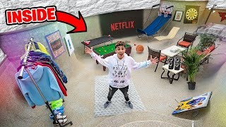 Turning my Empty Swimming Pool Into an ULTIMATE HOUSE!!