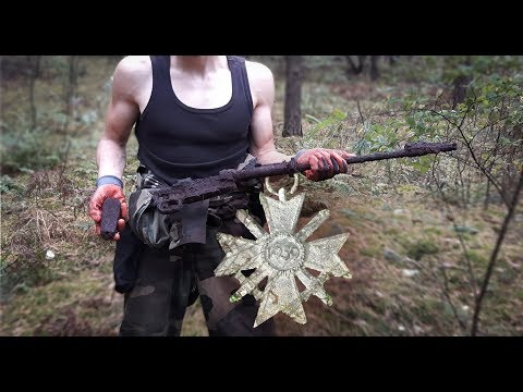 Discovery of a German Rifle & Medal - Eastern Front [1/2]