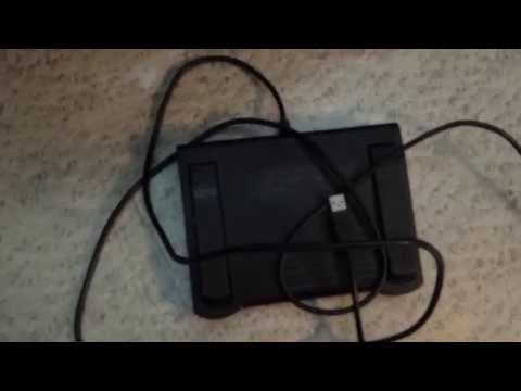 Infinity Foot Pedal IN-USB-1 for Audio/Video Control for Transcription + Ergonomics