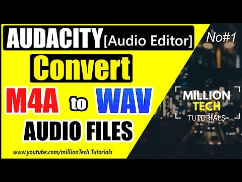 Audacity [Audio Editor] Tutorial #1 - How to Convert M4A to MP3 files