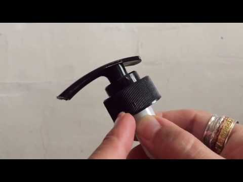 Easiest way to open a lotion pump