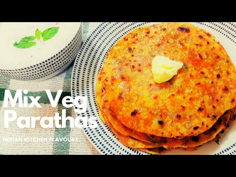Mixed Veg Paratha Easy Recipe | Mixed Vegetable Paratha | Mix Veg Paratha | Mix Veg Paratha by IKF