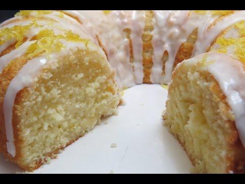 Easy   Lemon   Yogurt   Pound  Cake  w/  Lemon  Glaze  Icing