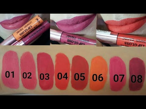 sarebass lipstick review n swatches//pakistani products