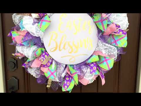 Quick Look at a 2018 Easter Wreath by Trendy Tree