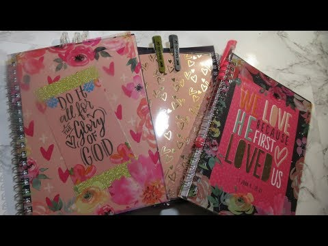DIY Prayer Journal Series: Video 4 Altered Dollar Tree Notebooks