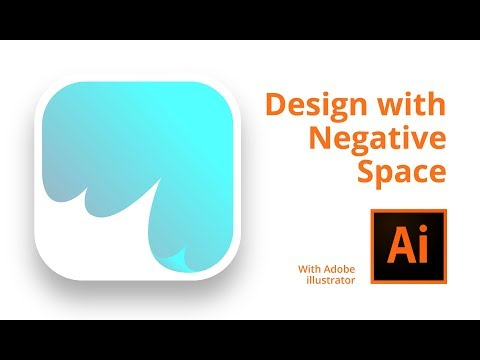 How to create Negative space icon in illustrator