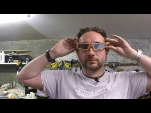 From CAD to Face - Custom designed wooden sunglasses