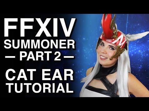 Cat Ear Tutorial - FFXIV Summoner Cosplay - Part 2