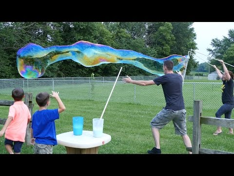 How To Make The Biggest Bubbles Ever