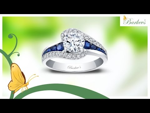 Barkev's Blue Sapphire Engagement Ring - 7898LBS