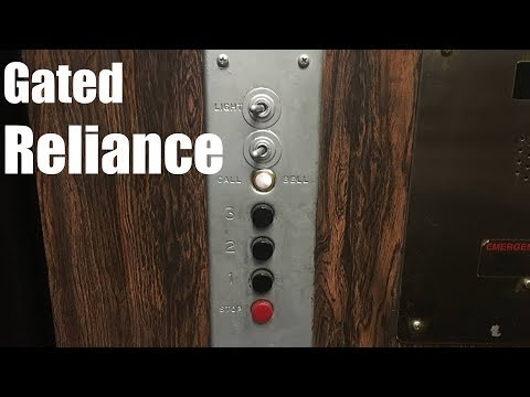 AMAZING 1963 Reliance Gated Traction Elevator @ The North Shore Building - Highland Park, IL
