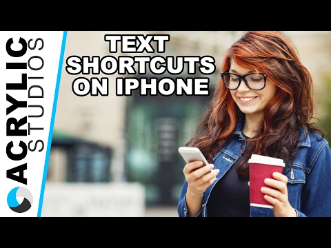 How to Setup Text Keyboard Shortcuts Text Replacement for iPhone on iOS