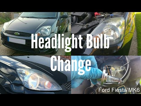 Headlight Bulb Change - Ford Fiesta MK6