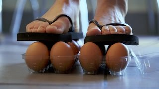 How to stand on Eggs Without Breaking Them | Street Science