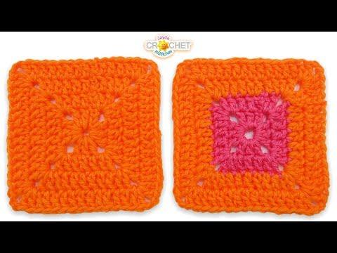 Solid Double Crochet Granny Square - Super Easy Beginner Pattern