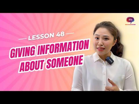 Bài 48: Cách cung cấp thông tin về người thứ ba